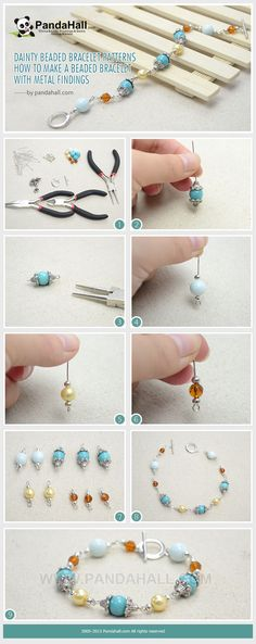 How to Make a Dainty Beaded Bracelet with Metal Findings