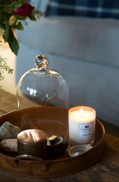 Our scented candle Dark Wood is sublime for Fall.