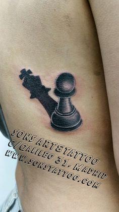 Chess Tattoo #sonstattoo #sons #Tattoomadrid #tattoospain