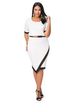 Ashley Stewart Web Exclusive Envelope Hem Dress