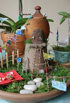 Create an Indoor Fairy Garden! >> http://www.hgtvgardens.com/crafts/make-an-indoor-fairy-garden?soc=pinterest