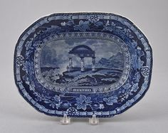 Lot: Historical blue Staffordshire Arms of Georgia en, Lot Number: 0531, Starting Bid: $400, Auctioneer: Pook & Pook, Inc., Auction: Historical Blue Staffordshire, Date: October 10th, 2013 EDT