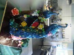 Peacock sugar show piece birmingham salon