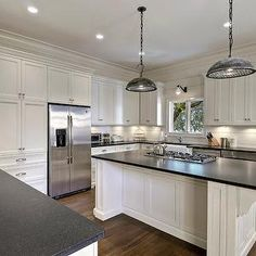 K and K Cabinets - kitchens - white cabinets, white cabinetry, white kitchen cabinets, white kitchen cabinetry, nickel hardware,