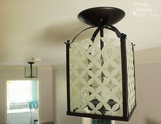 Brass lights revived with glass paint and spray paint | by Pretty Handy Girl