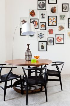 Frames for Dining Room Inspirational Ibiza Eclectic Dining Room London by Godrich Interiors Ikea Dining, Dining Chairs, Houzz, Ibiza, Pedestal Table Base, Midcentury Modern Dining Table, Dining Room Table Centerpieces, Photo Frame Design, Turbulence Deco