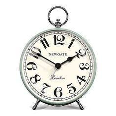 Newgate Clocks The Chelsea Arts Alarm Clock - Duck Egg ($36) ❤ liked on Polyvore featuring home, home decor, clocks, clock, blue, digital clock, newgate, blue digital clock, blue alarm clock et metal dome
