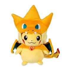 Image for Mega Charizard Y Costume Pikachu Poké Plush (Standard Size)…