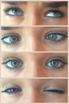Got hazel eyes? Try more natural make-up with a pop of purple! :) I have hazel eyes.