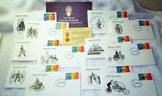 Staffa Scotland Anniversary Commemorative First Day Cover Mint Series in honor of the Centenary of the Bicycle. Scotland, Photo Wall, Bicycle, Anniversary, Mint, Number, Day, Cover, Frame