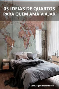 Cool 47 Pretty Bedroom Ideas For Home. Cool 47 Pretty Bedroom Ideas For Home. Cool 47 Pretty Bedroom Ideas For Home. Pretty Bedroom, Dream Bedroom, Home Bedroom, Bedroom Decor, Travel Bedroom, Master Bedroom, Teen Bedroom, Budget Bedroom, World Map Bedroom