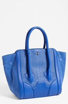 Pour la Victoire 'Butler - Large' Snake Embossed Leather & Suede Tote available at #Nordstrom