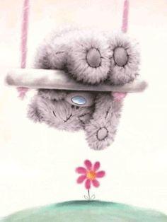 Cute Tatty Teddy Bear on Swing Upside Down Tatty Teddy, My Teddy Bear, Cute Teddy Bears, Nici Teddy, Cute Images, Cute Pictures, Teddy Bear Pictures, Blue Nose Friends, Love Bear