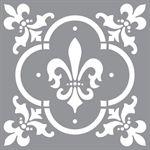 Mostrar detalles para PLANTILLA ADHESIVA AMERICANA FLOR DE LYS 30x30 CM