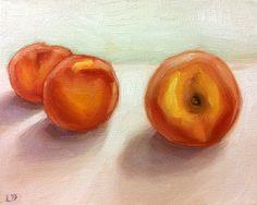 Original pintura al óleo bastante melocotones por LamaArt en Etsy