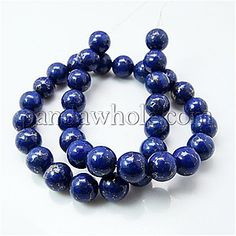 Natural Turquoise Beads Strands, Round, Dyed