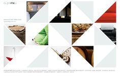 Geometric pattern website layout