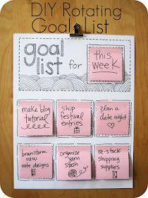 List, list, list for everything, I like this idea