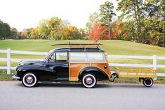 Oh my dream car. Retro Cars, 50s Cars, Morris Traveller, Woody Wagon, Tiny Trailers, Morris Minor, Classy Cars, Sweet Cars, Cute Cars
