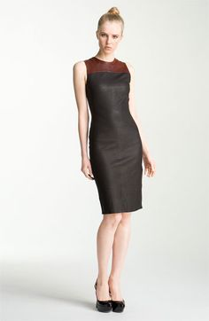 A.L.C. 'Mika' Stretch Leather Dress available at #Nordstrom