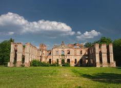 Pałac w Kamieńcu  koło Iławy - ruiny