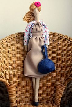 Maria's Doll by made by agah, via Flickr ... Denim bag