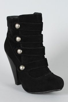 Bamboo Brenda-27 Button Military Ankle Bootie - $24.40