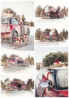 Family Christmas photo shoot - Minneapolis photographer Anna Grinets Photography