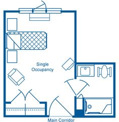 Dillon Living Center: Health Care: Floor Plan