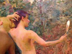 Vojtěch Hynais Oil on canvas detail