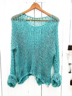 Cotton summer sweater Woman cotton sweater by armarioenruinas