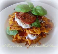 A Tray of Bliss: Sweet Potato Hash Brown Stack....