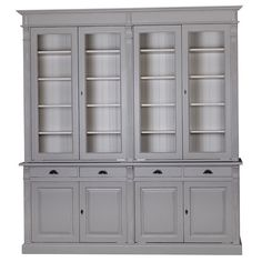 Our new tall French Empire dresser range has just a little French je-ne-sais-quoi with carved detailing - fluting raised and fielded panelled doors Buffet Cabinet, China Cabinet, Vitrine Vintage, China Buffet, Traditional Cabinets, Library Wall, China Display, Pantry Design, Furniture Manufacturers