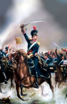 Charge of the Portuguese Cavalry (Napoleonic/Peninsular War Battle Of Waterloo, War Of 1812, French Revolution, Napoleonic Wars, Empire, Military History, Armed Forces, Revolutionaries, Army