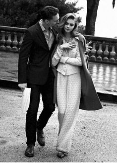 Cara Delevingne  Tom Hiddleston photographed by Peter Lindbergh for Vogue US May 2013