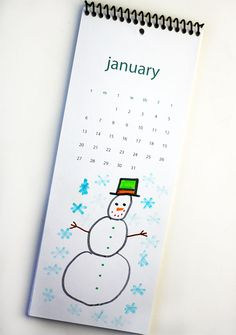 How to create a children's artwork calendar