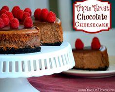 Triple Threat Chocolate Cheesecake
