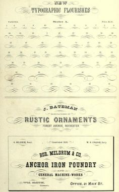 Typographic Flourishes From The Public Domain Ebook New Specimen Book