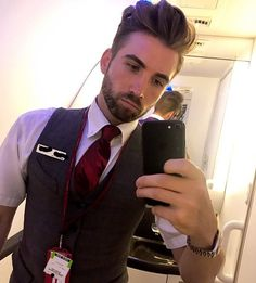From @lrw86 -  Annnnnddd home ....... exhausted and burned out from exams  parties and work .....:three days of healthy eating  sleeping and gym now !  #flightattendant #cabincrew #cabincrewlife #12hourflight #jetlag #londonboy #selfie #gayselfie #uniform #travel #gaytravel #gaytraveller #instagay #instaboy #instahomo #gayuk #quiff #hair #beardedhomo #crew #gayfit #gay #crewiser - #instacrewiser
