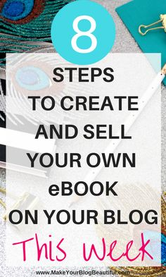 Ready to monetize your blog with your own eBook? You could have it up and ready to sell this week! Creating and selling your own product on your blog is one of the quickest and best ways to make money blogging.