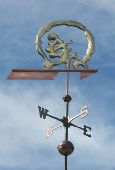 Sunset Logo Weather Vane by West Coast Weathervanes.