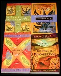 "4 Titles By Don Miguel Ruiz: ""The Four Agreements, "" ""The Four Agreements Companion Book, "" ""The Master of Love, "" ""The Voice of Knowledge.""..."