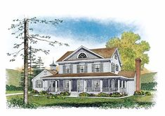 Farmhouse House Plan with 2168 Square Feet and 3 Bedrooms from Dream Home Source   House Plan Code DHSW53834