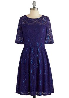 Indigo All Out Dress. For your next festive fete, highlight your natural charisma by donning this dazzling cocktail dress! #gold #prom #modcloth