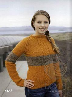 - Icelandic Gná Women Wool Sweater Orange - Tailor Made - Nordic Store Icelandic Wool Sweaters - 1