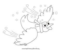 disegni da stampare giorni della merla School Coloring Pages, Colouring Pages, Winter Season, Fall Winter, Symbols, Birds, Letters, Seasons, Drawings