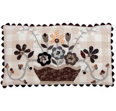 Applique pillow by Pat Wys |  Knockout Neutrals book at Martingale