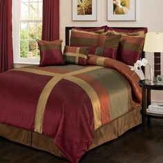 Lush Decor Iman 8-Piece Comforter Set, King by Lush Decor. $99.99. Comforter face-100-percent polyester; bedskirt drop-100-percent polyester, platform 100-percent woven polyester; sham face-100-percent polyester. 100% Polyester. Dry clean only pillows: spot clean. Modern colorful design. 8-Piece set includes: Comforter 102-inch by 92-inch, bed skirt 78-inch by 80-inch with 14-1/2-inch drop, 2 pillow shams 36-inch by 20-inch, 2 euro shams 26-inch by 26-inch, oblong pillow 12-...
