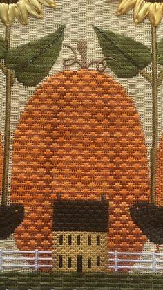 Great pumpkin stitch, needlepoint, designer unknown