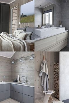 Ulempen er at House Design, House, Dream Living Rooms, Master Bedroom Design, Home, Cottage Interiors, Cabin Living, House In The Woods, Winter House